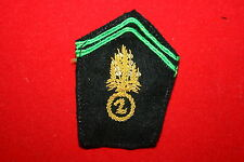FRENCH FOREIGN LEGION 2ND REP ALGERIA / INDOCHINA COLLAR PATCH OFFICER BULLION