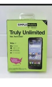 "BRAND NEW IN BOX Simple Mobile 4G LTE Data TLC A1 5"" Touchscreen 16 GB Smartphon"