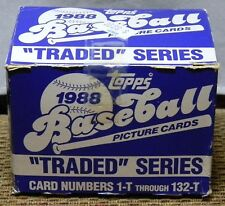 BASEBALL 1988 TOPPS PICTURE CARDS TRADED SERIES 1-T THROUGH 132-T