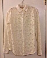 Michael Kors Size XS Long Sleeve Button Down Blouse Cotton Blend