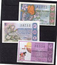 España Decimos de loteria Nacional de los años 1964-66 edición facsímil (DH-729)