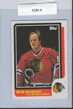 Bob Murray 1986 Topps Autograph #64 Blackhawks