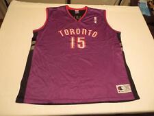 Used Vtg Champion Mens Retro Vince Carter Toronto Raptors NBA Swag Jersey Sz 52
