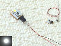 S005 - 10 Stück LED Beleuchtung weiß mit Kabel 12-16V Hausbeleuchtung Häuser