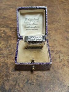 SAPPHIRE AND DIAMOND RING WHITE  GOLD HALLMARKED HANDMADE