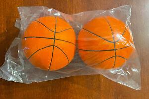 """Mini 5"""" Orange Foam Basketballs Skywalker Sports Trampoline Basketball Hoop"""