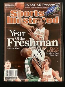 Kevin Durant Signed Sports Illustrated Mag 2/19/07 No Label Thunder ROY Auto JSA