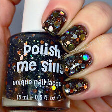 midnight twinkle -Custom-Blended Indie Glitter Nail Polish / Lacquer