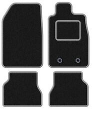 TOYOTA YARIS 2006-2011 TAILORED BLACK CAR MATS WITH SILVER TRIM