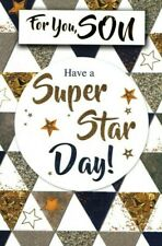 Son Birthday Card ~ Super Star Day By Simon Elvin ~ Free P&P