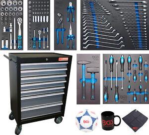 BGS Werkstattwagen mit 129 Werkzeugen, 7 Schubladen 4080 KFZ Auto Werkzeug Set