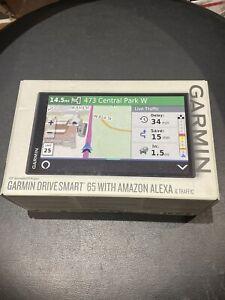 Garmin DriveSmart 65 Automotive Mountable GPS Navigator with Amazon Alexa *NEW*