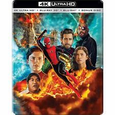 Spider-man: Far Far Home (STEELBOOK)(4K + 3D + Blu-ray) (4 Disc Region Free New)