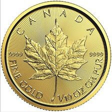 1/10 Oz Maple Leaf Gold 2017 one-tenth Oz Gold coin Royal Canadian Mint 9999