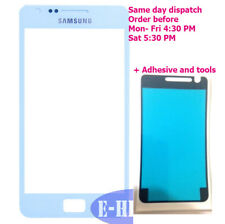 Samsung Galaxy S2 i9100 i9105 Blanco Lente De Vidrio Exterior De Pantalla Frontal + Adhesivo
