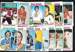1975-76 OPC 75-76 O PEE CHEE NHL HOCKEY CARD + ERROR & VARIATION 1-132 SEE LIST