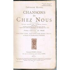 CHANSONS de Chez Nous Théodore BOTREL Aquarelle et dessin d'Eugène-Hervé VINCENT
