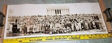 Old Long 1938 Real Photo Tuttle Tours Trip Travel Washington DC Lincoln Memorial