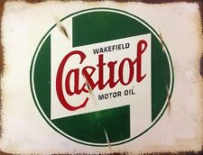 """TIN SIGN """"Castrol Rust""""   Gas-Oil   Signs  Rustic Wall Decor"""