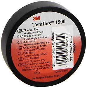 Scotch Temflex Isolation Insulating  Tape 10M x 15mm Quality Black Tape