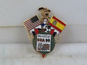 1994 Soccer World Cup Pin - Team Spain Dual Flag by Peter David - Metal Pin