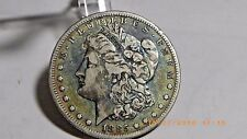 1885 S Morgan Silver Dollar - RAINBOW FRONT AND BACK 60 YEAR OLD COLLECTION