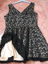 Ladies Dress Size 14 Black Lace Brand New