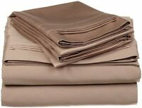 1 Flat Sheet Only 400 Thread Count Bedding 100% Organic Cotton Taupe Solid