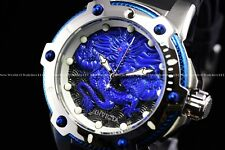 "RARE Invicta 53mm Bolt "" FIRE PHOENIX "" Automatic Blue Dragon Silicone Watch"