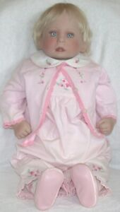 """21"""" Lee Middleton Baby Doll 1988 USA 041388 (3) Stamped Limited 2704/5000"""