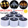 6 12 PCS Garden Solar Powered LED Candle Lantern Light Waterproof  Outdoor Lamp