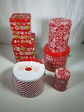 Nwt 6 Assorted Christmas Gift Tins