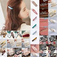 HOT Fashion Girls Crystal Hair Clip Snap Barrette Hairpin Bobby Hair Accessories