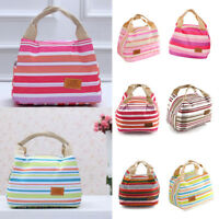 Adult Kids Thermal Insulated Lunch Bag Cool Bag Picnic Lunch Box Food Storage UK