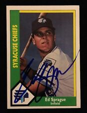 ED SPRAGUE CMC 1990 MINORS Autograph Signed AUTO Baseball Card 19 BRAVES