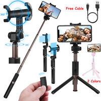 Extendable Selfie Stick Bluetooth W/ Wireless Remote Tripod fr iPhone X 7 8 Plus