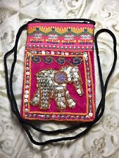"Elephant Gitters Handmade bag with strap and zipper from Thailand (Size5.5""x4"")"