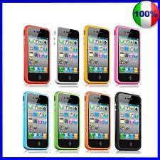 BUMPER per  IPHONE 4S 4 tutti i colori COVER SILICONE CUSTODIA OFFERTA