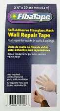 FibaTape Self Adhesive Fiberglass Mesh Wall Repair Tape 2 1/2 X 20
