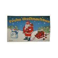 Weihnachtsfahne Weihnachtsmann Schlitten Fahnen Flaggen 1,50x0,90m mit Ösen
