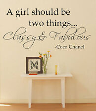 90cm Removable Coco Chanel Art Words Vinyl Wall Paper Decal Art Sticker X1008