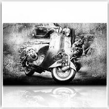 VESPA SCOOTER MOTORRAD OLDTIMER 100 x 60 cm BILD AUF LEINWAND WANDBILD XXL 243A