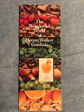 Hiram Walker Cordials Drink Recipes Vintage Book