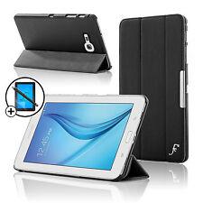 Leather Black Folding Smart Case Samsung Galaxy Tab E Lite 7.0 Scrn Prot Stylus