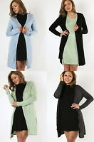 NEW Plus Size Long Sleeve Long Cardigan Duster Cover Up Jacket- L/XL/1X-2X-3X