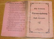 rare 1917 WW1 ein Triduum Thronerhebung des heiligsten Herzens FREIBURG p.mateo