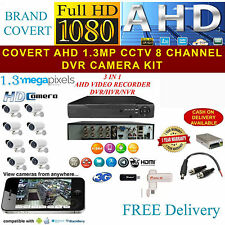 FULL HD CCTV SYSTEM CAMERA KIT 8 CHANNEL DVR 1.3 MEGA PIXEL DOME/BULLET CAMERA2