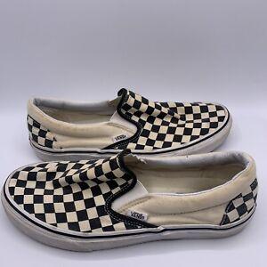 Vans Checkerboard Slip On Size 9.5