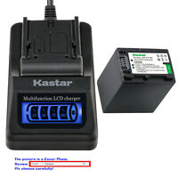 Kastar Battery LCD Quick Charger for Sony NP-FH100 & HDR-SR70 HDR-SR8 HDR-SR80