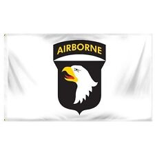 3x5 Airborne White 101st Flag 3'x5' Army House Banner Brass Grommets Premium